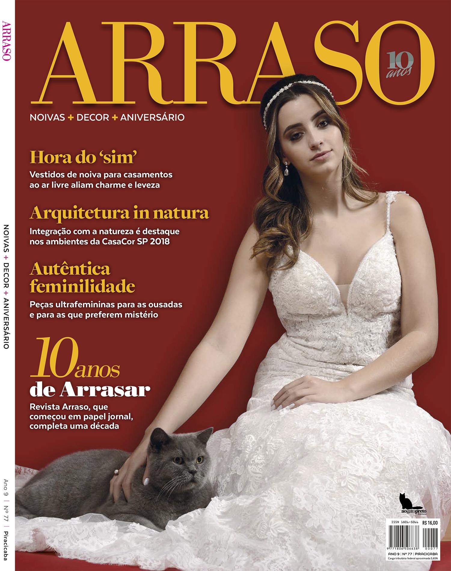 Capa Revista Arraso - Setembro 2018
